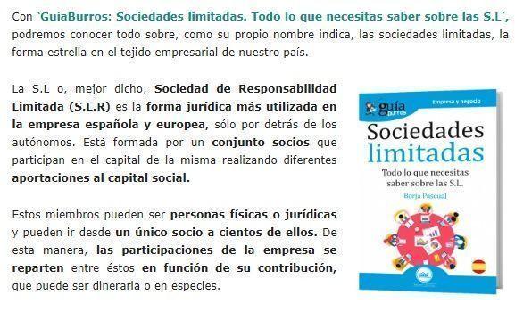 sociedades limitadas en prensa